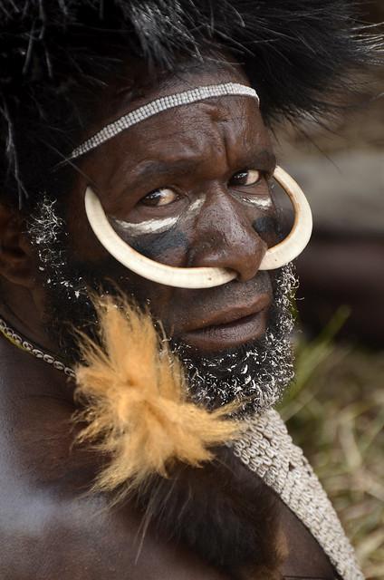 Dani warrior portrait, Baliem valley, Papua