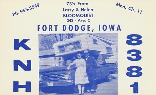 woman man vintage picture iowa qsl cb camper fortdodge cbradio