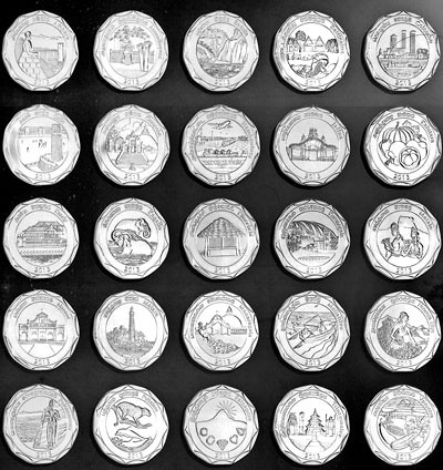 Sri Lankan administrative districts coins