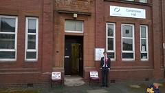 Cameronian Hall, Larkhall on referendum polling day, September 2014