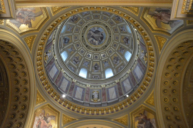 this is a picture of the dome at St Stephen's Basilica in Budapest