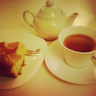 Green Tea + Apricot Pie