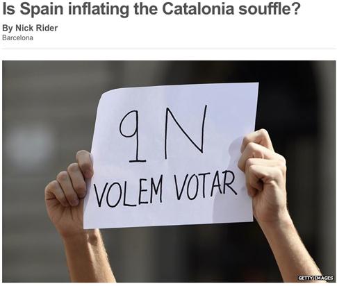 14k09 BBC España está inflando el suflé catalán