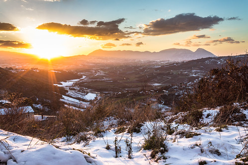 winter sunset sky italy canon landscape tramonto campania cielo 1855 inverno paesaggio benevento 600d sannio paduli dormientedelsannio beneventofoto