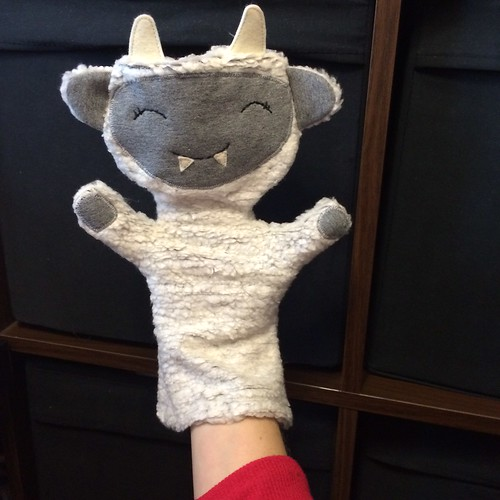 An abominable snowbeast puppet
