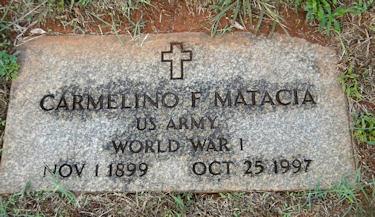 CARMELINO MATACIA Headstone