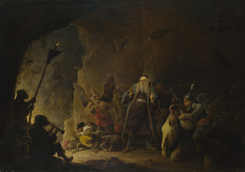 David Teniers The Younger - The Rich Man being led to Hell, about 1647