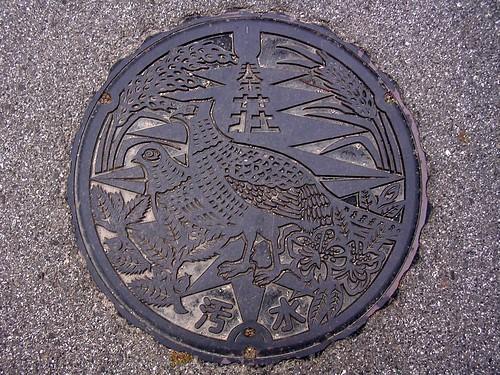 Hatasho Shiga, manhole cover (滋賀県秦荘町のマンホール)