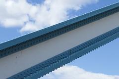 The arm of a famous bridge