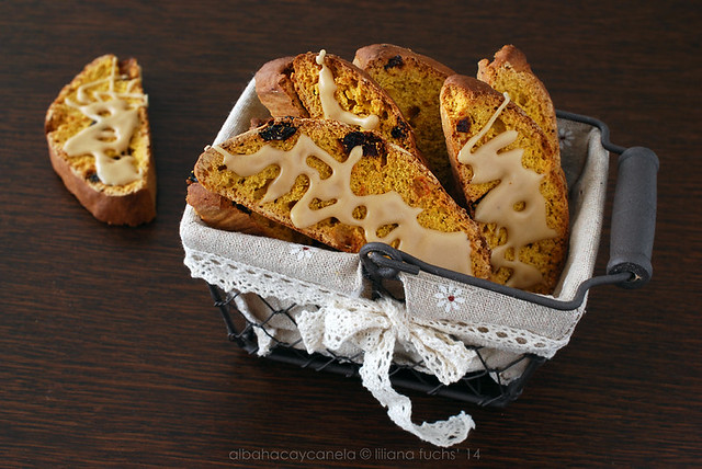 Pumpkin coffee biscotti