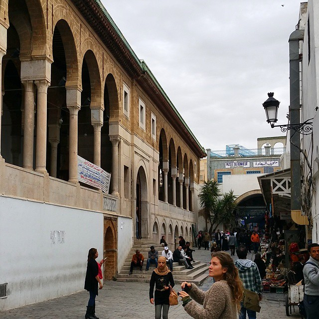 Zitouna Mosque, Medina of Tunis, Tunisia...