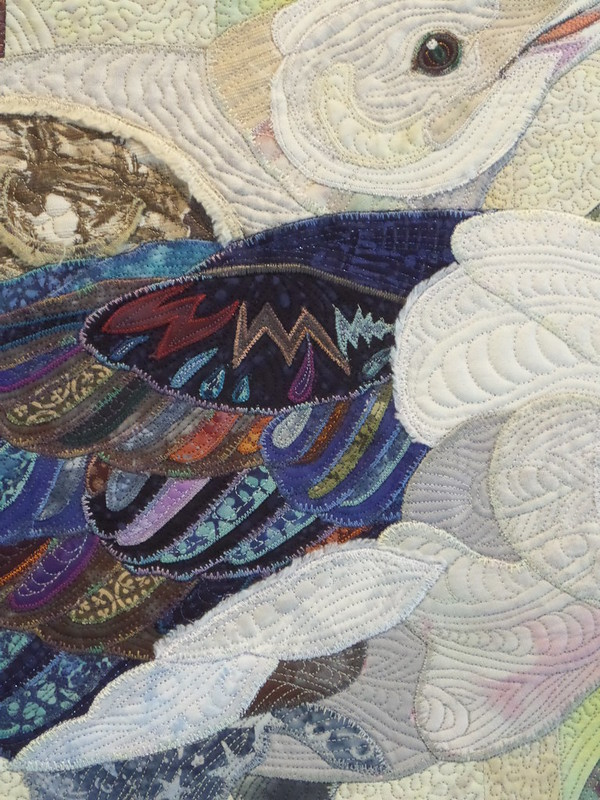 "Detail from ""Silver medal winner - seagulls small quilt"""