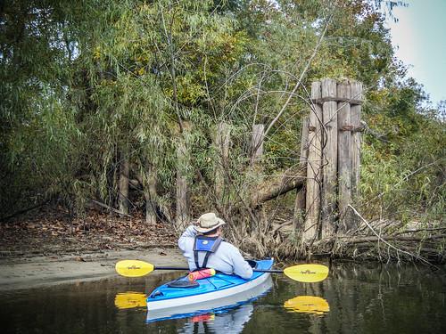 Savannah River from Stokes Bluff with LCU Nov 7, 2014, 4-18 PM Nov 8, 2014, 9-42 AM