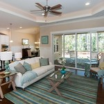 Great Room, Kitchen, and Dining Room of Plan #1302 - The Bluestone