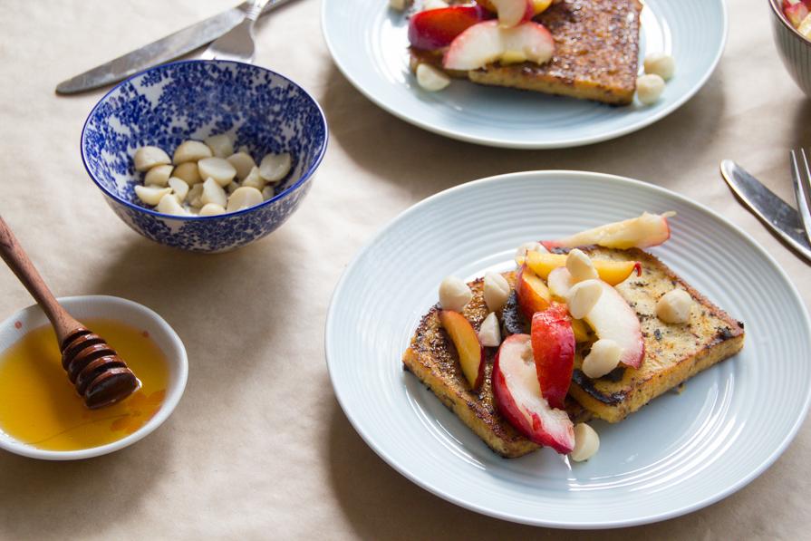 coconut + saffron french toast
