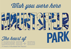 Mountsfield heart of SE6 and SE13 postcard by James Blackman #mountsfieldpark