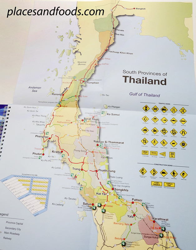 self drive in thailand guide book large map
