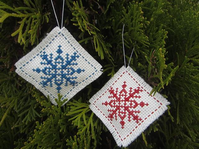 Nordic Snowflake Ornaments