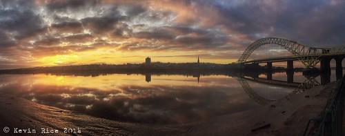 sun clouds sunrise reflections river estuary hdr mersey iphone runcorn rivermersey runcornbridge pseudohdr iphonography snapseed