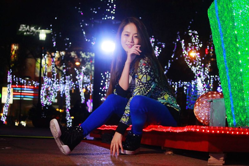 2014 12 05 新北市.板橋.Kattie Huang.聖誕節.夜拍