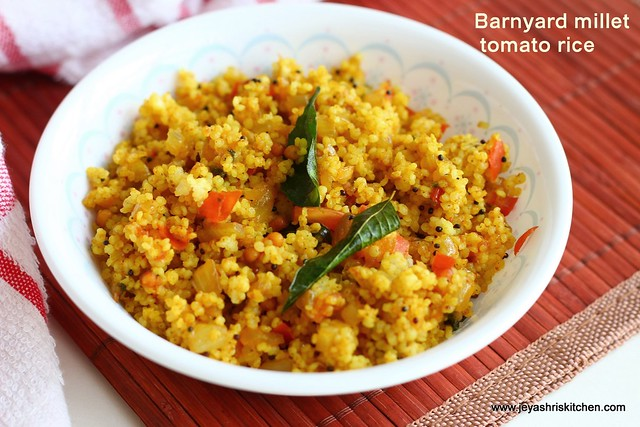 Barnyard millet-tomato rice