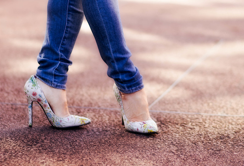 cute & little blog | petite fashion | shoes of prey custom floral pumps