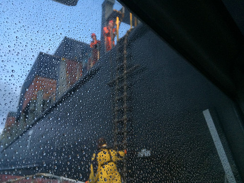 ship through spray on window