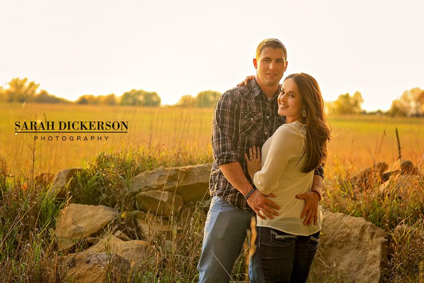Topeka Kansas farm engagement session