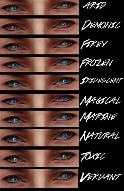 Ikon Deadshine Eyes ( Ice set)