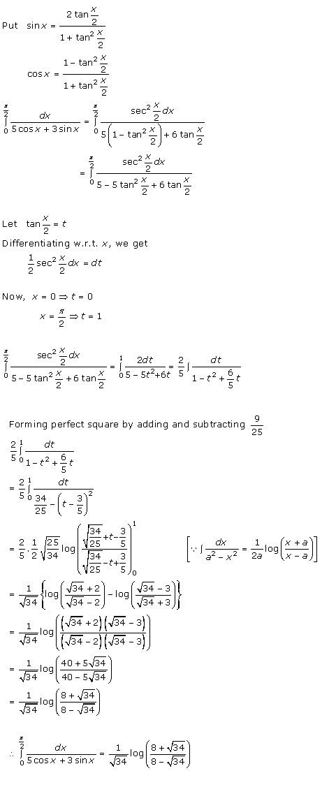 RD Sharma Class 12 Solutions Chapter 20 Definite Integrals Ex 20.2 Q4