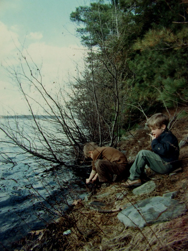 with Steve at Paddy's Pond, 1971
