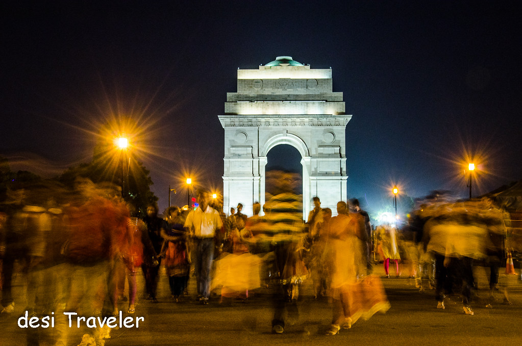 Evening India Gate people