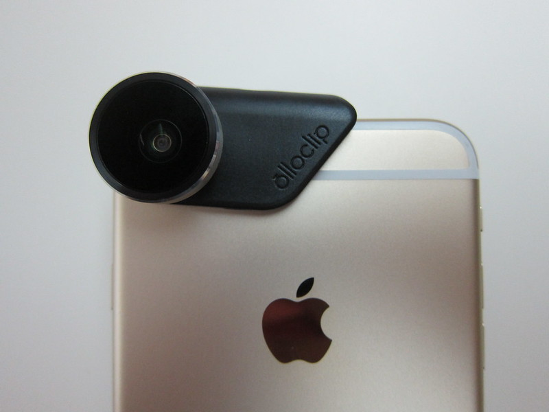 Olloclip 4-in-1 Photo Lens for iPhone 6/6 Plus - Attached To Rear Camera On iPhone 6 Plus Back