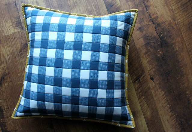 Folk Plaid blue with Ripples in River
