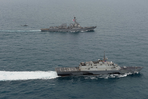 USS Sampson and USS Fort Worth Detach from AirAsia Search