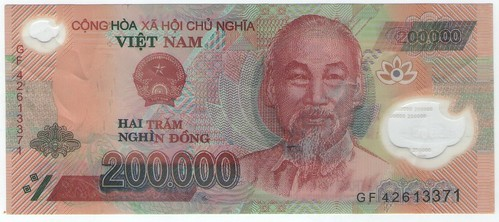 200,000 Dong counterfeit front