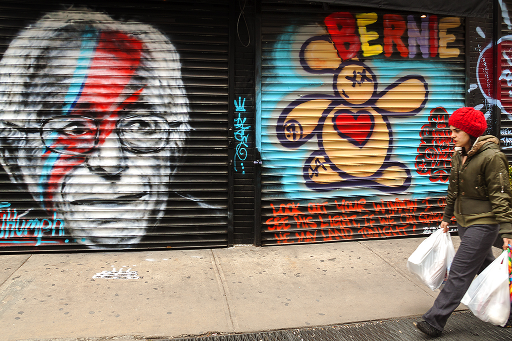 Bernie Sanders image on Ludlow--Lower East Side