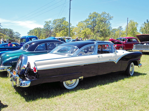 ford 1955 car sedan automobile florida carshow fairlane pineridge