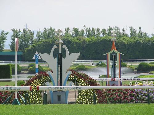 京都競馬場のゴール板