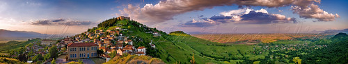 sunset panorama castles clouds wow landscapes view villages monuments plain traditionalvillages thessaly karditsa fanari stonevillages thessalyplaingreecehellas