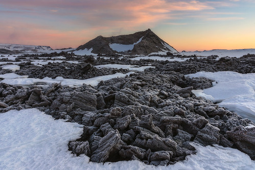 winter snow ice sunrise landscape dawn lava frozen iceland frost crater volcanic geothermal lavafield krafla leirhnjukur