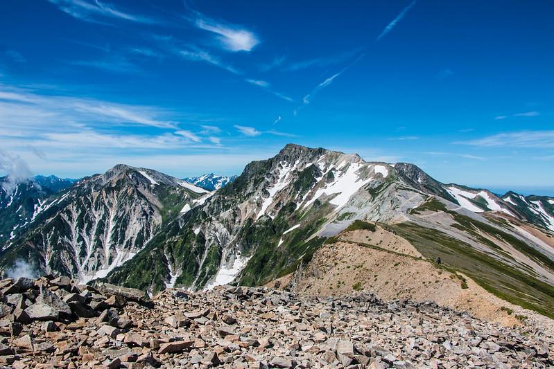 夏の白馬岳