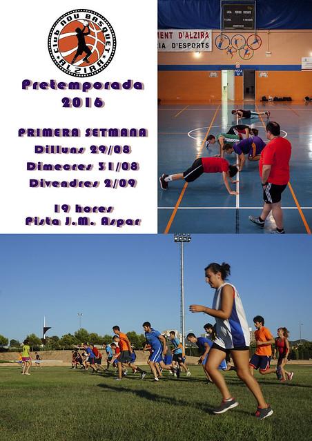 CARTELL PRETEMPORADA 2016