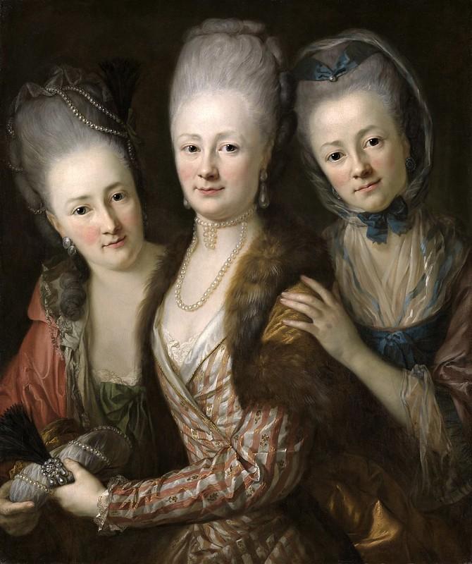 Anton Graff - Töchter des Johann Julius von Vieth und Golssenau (c.1773)