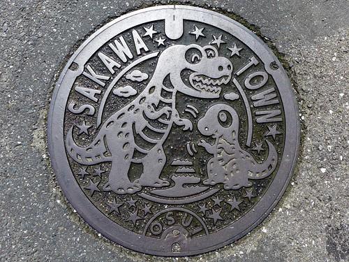 japan dinosaur 日本 manhole kochi 恐竜 マンホール sakawa 高知県 佐川町