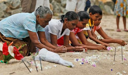 Sobrevivientes del tsunami