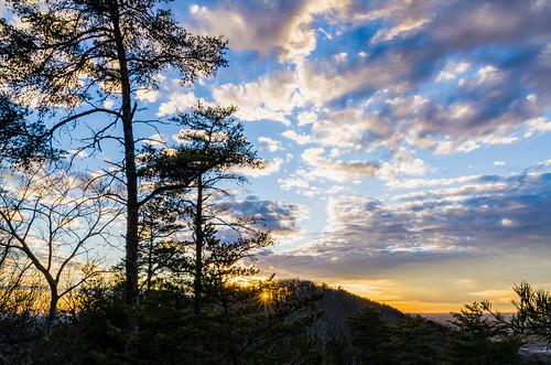 6xp hdr indianseats sawnee sawneemountain peaceful sunset view mountain