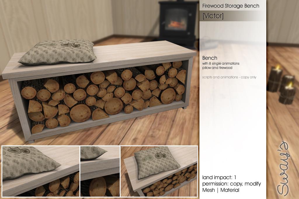 Sway's [Victor] Firewood Storage Bench | FLF