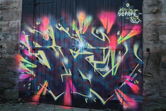 Caltongate graffiti walls