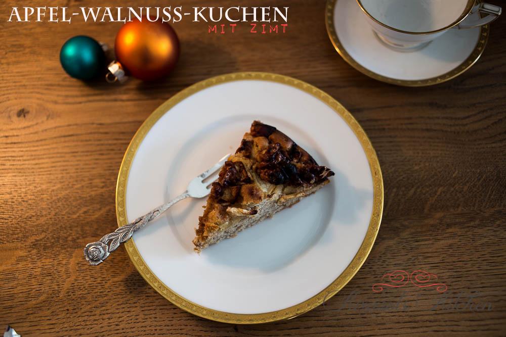 Apfel-Walnuss-Kuchen mit Zimt